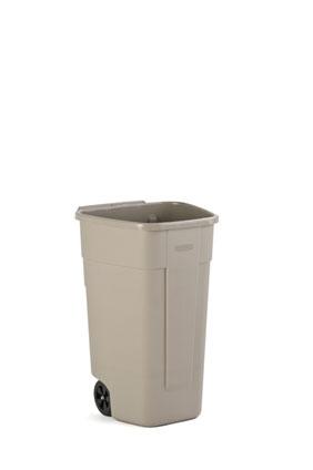 afvalbak verrijdbaar 100 liter beige