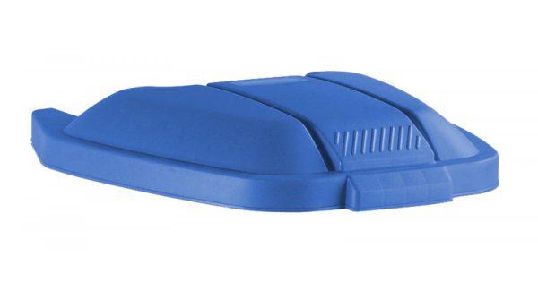deksel t.b.v. afvalbak rubbermaid 100 liter blauw