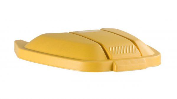 deksel tbv afvalbak rubbermaid 100 liter geel