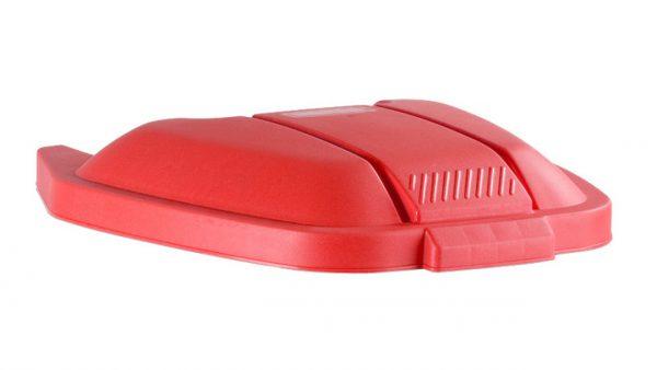 deksel t.b.v. afvalbak rubbermaid rood