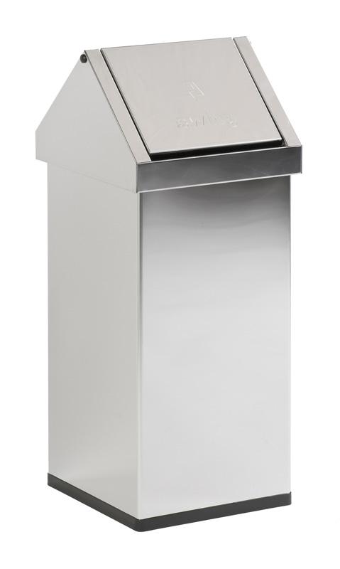 afvalbak met tuimeldeksel rvs 55 liter