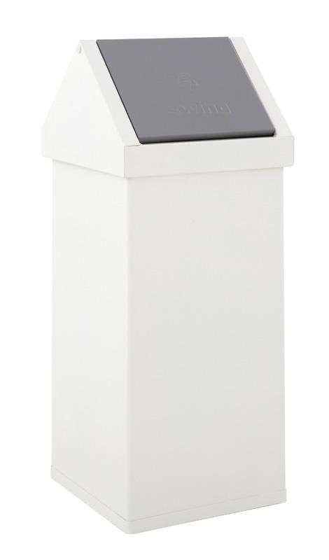 afvalbak tuimeldeksel wit 55 liter